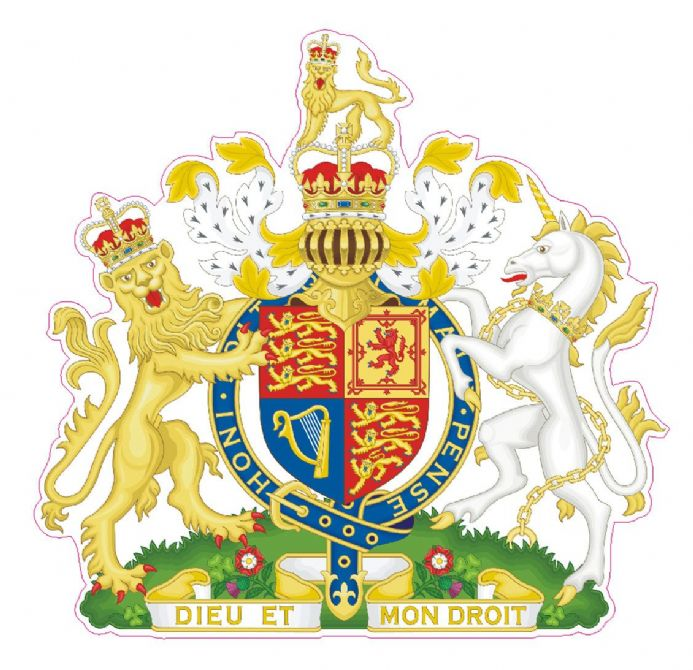 British Royal Coat of Arms Car Window Sticker